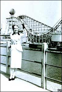 Marlene Dietrich durante su visita a Blackpool en 1934