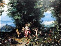 Alegoría de la tierra, de Jan Bruegel